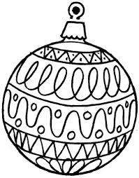 christmas ornament coloring ornaments free printable
