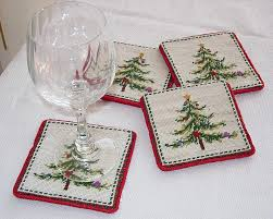 christmas needlepoint em s heart antique linens needlepoint christmas coasters