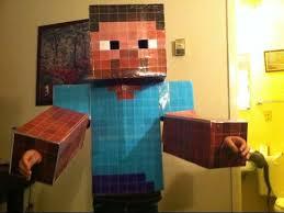 minecraft steve costume how i made my minecraft steve costume