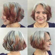 trendy gray hair styles 21 cute layered bob hairstyles popular haircuts