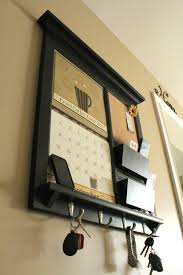 Wall Hanging Mail Organizer Wall Calendar Frame Front Loading Home Decor Framed Furniture