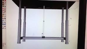 Diy Height Adjustable Desk by Adjustable Standing Desk Youtube