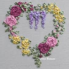 silk ribbon embroidery roses wisteria heart brights lorna