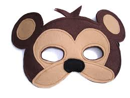 children u0027s safari animal monkey felt mask
