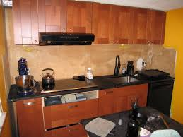 Black Countertop Kitchen by Kitchen Cute Small Kitchen Design And Decoration With Black Glass
