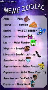 Zodiac Memes - what is your meme zodiac by fazboggle on deviantart