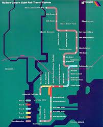 hudson bergen light rail map map of the hudson bergen light rail system image railway