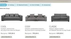 sofa konfigurator avandeo de im test getestet de