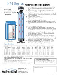 fm series water conditioning system specifications hellenbrand