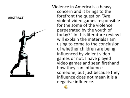 violence essays free violent video games essays and papers helpme