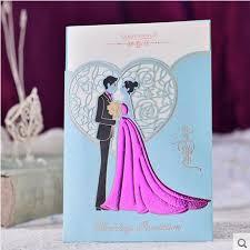light blue wedding invitations 50pcs light blue wedding invitation card bride and groom engagement