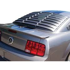mustang rear louvers mustang rear window louvers abs smooth coupe 2005 2014