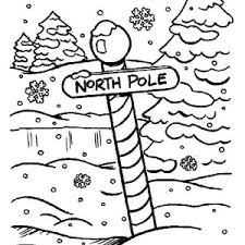north pole coloring north printable u0026 free download images