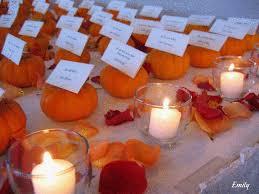fall wedding ideas pumpkin placecards