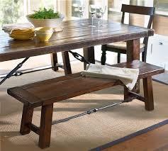 Pottery Barn Benchwright Fixed Dining Room Table And Bench - Pottery barn dining room table