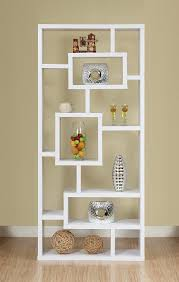 amazon com iohomes mateo open back bookcase white kitchen u0026 dining