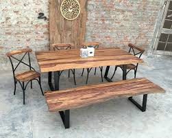 rustic dining tables nifty homestead live edge rosewood dining set