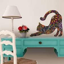 beautiful cat wall decals how to make cat wall decals