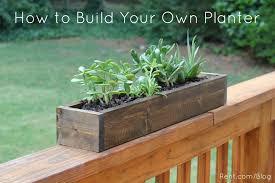 diy planter box apartment diy build your own planter box rent com blog