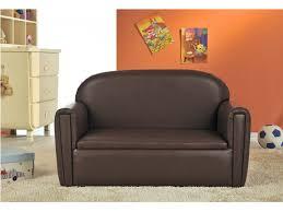 fauteuil canapé enfant canapé pour enfant woopie simili chocolat