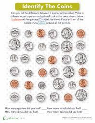 identify money worksheets worksheets