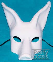 unpainted masks mache dog mask