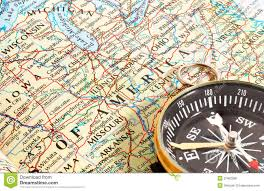 Maps North America by Compass And Map North America Royalty Free Stock Photos Image