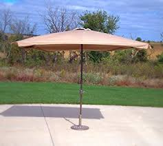 amazon com bar height rectangle patio umbrella beige garden