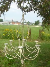 Garden Candle Chandelier Wrought Iron Candle Chandelier Foter