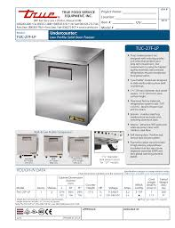 download free pdf for true tuc 27 lp refrigerator manual