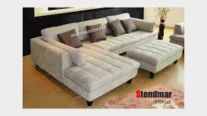 Modern Microfiber Sectional Sofas by 3pc Contemporary Grey Microfiber Sectional Sofa Chaise Ottoman