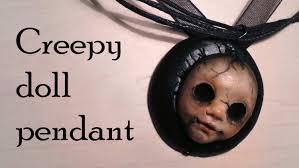 halloween polymer clay creepy doll charm youtube