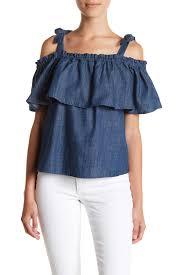 popover blouse harlowe graham denim popover blouse nordstrom rack
