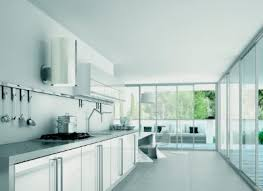 eclairage mural cuisine hotte de cuisine murale design original avec éclairage intégré