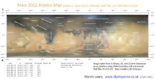 Mars Map Mars Albedo Maps Www Skyinspector Co Uk Astronomy And Sky