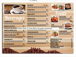 coffee shop menu template tri fold menu templates 25 free psd eps format