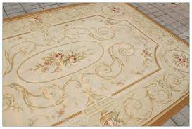 10x14 pastel light green ivory aubusson area rug french shabby