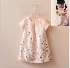 best 2016 summer baby dress shirt cute girls butterfly flower
