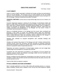 Hostess Job Description Resume by Executive Secretary Job Description Resume Free Resume Example
