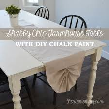 a shabby chic farmhouse table with diy chalk paint the diy mommy
