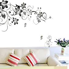 aliexpress com buy 90 60cm flower butterfly stickers removable aliexpress com buy 90 60cm flower butterfly stickers removable diy vinyl quote wall sticker poster home decoration from reliable home decor suppliers on