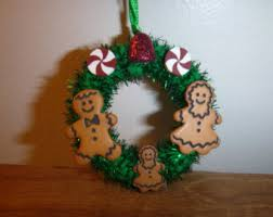 gingerbread family etsy