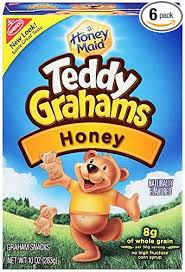 teddy gram delivery teddy grahams snacks honey 10 ounce boxes pack of 6