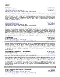Psychiatrist Resume Free Federal Resume Sample From Resume Prime
