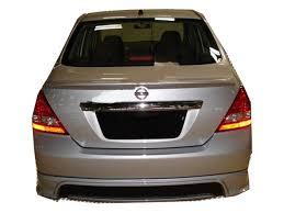 tiida nissan 2008 rear trunk spoiler nsn tiida n type sedan 4d 2005 2011 ebay