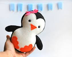 penguin sewing kit felt kids u0027 crafts felt sewing kit in