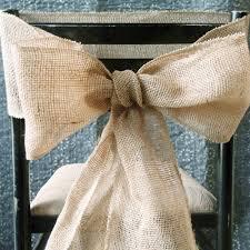 burlap chair sash burlap chair sash bows 7 inch 3 yards