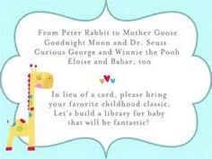 books instead of cards for baby shower poem book instead of card for baby shower search random