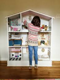How To Make A Dollhouse Out Of A Bookcase Caught In Grace Barbie Dollhouse Diy