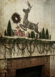 Christmas Deer Mantel Decorations by 266 Best The Primitive Mantle Ideas Images On Pinterest